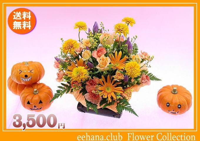 10月の誕生花 ビタミンオレンジアレンジ